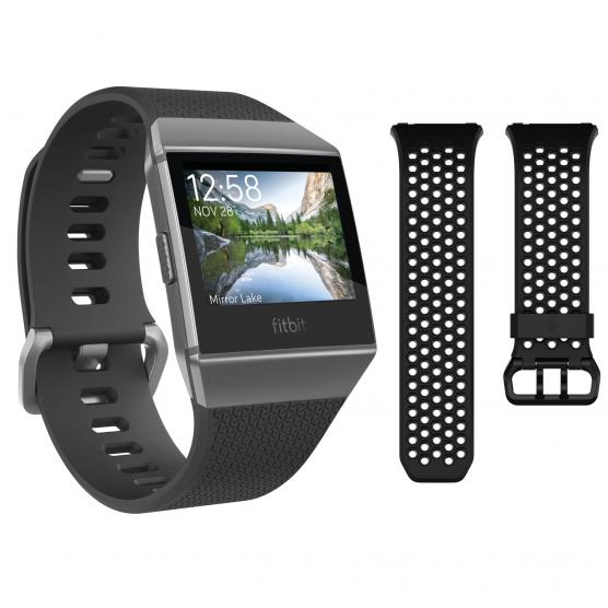 FITBIT IONIC BUNDLE CHARCOAL/SMOKE GRAY+ACCESSORY