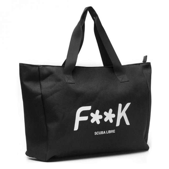F**K BEACH BAG BLACK