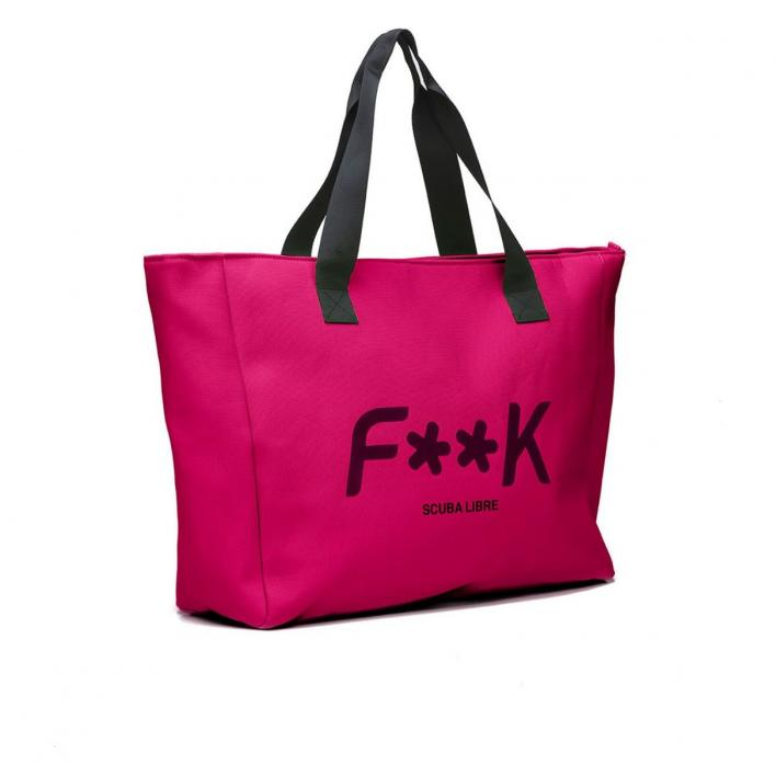 F**K BEACH BAG FUXIA
