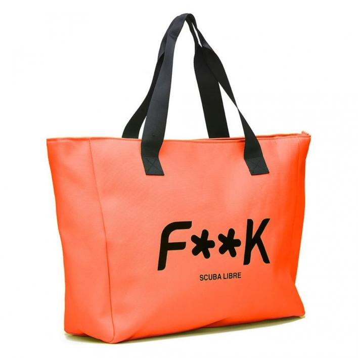 F**K BEACH BAG ORANGE