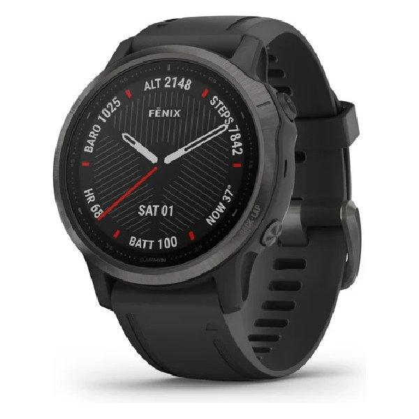 GARMIN FENIX 6S PRO SAPPHIRE CARBON GREY W/BLACK BAND