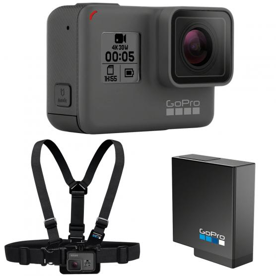 GOPRO HERO 5 BLACK + BATTERIA + CHESTY BUNDLE KIT