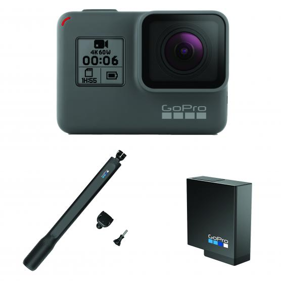 GOPRO HERO 6 BLACK + EL GRANDE + BATTERY
