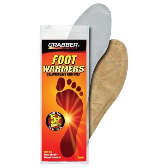 GRABBER PAIR FOOT WARMER SOLE