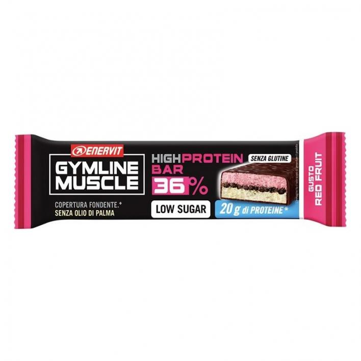 ENERVIT GYMLINE PROTEINBAR 36% RED FRUITS 55G