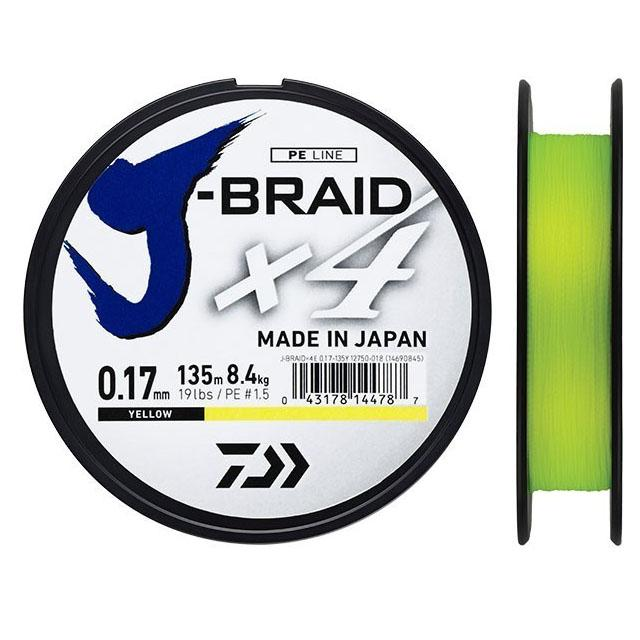 DAIWA J-BRAID X4 135 MT 0.15 MM YELLOW