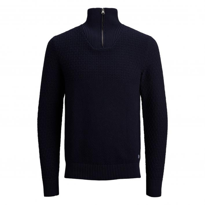 JACK JONES BLUCARLIN KNIT HALF ZIP