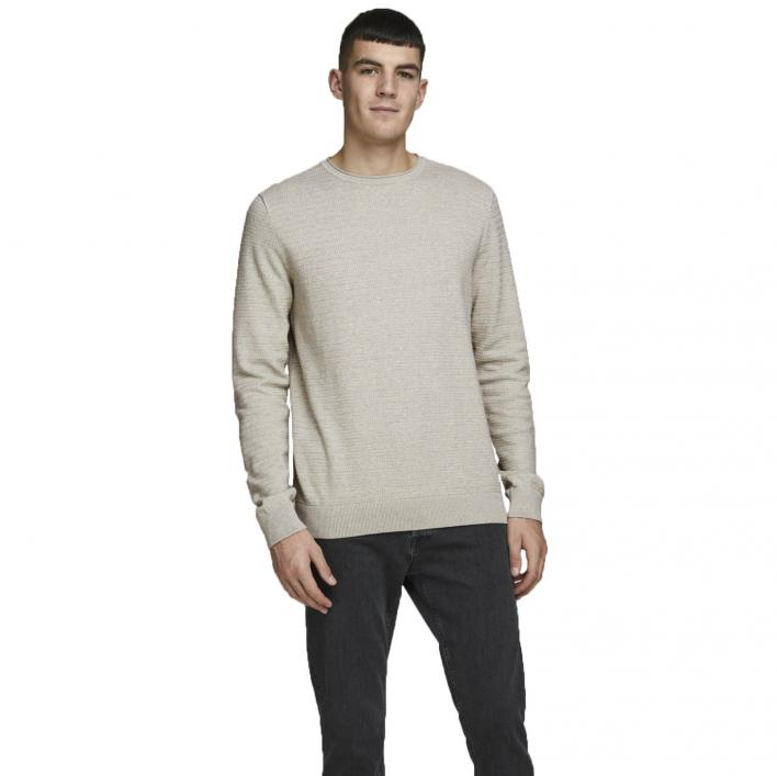 JACK JONES BLUCONRAD KNIT CREW NECK ORGANIC