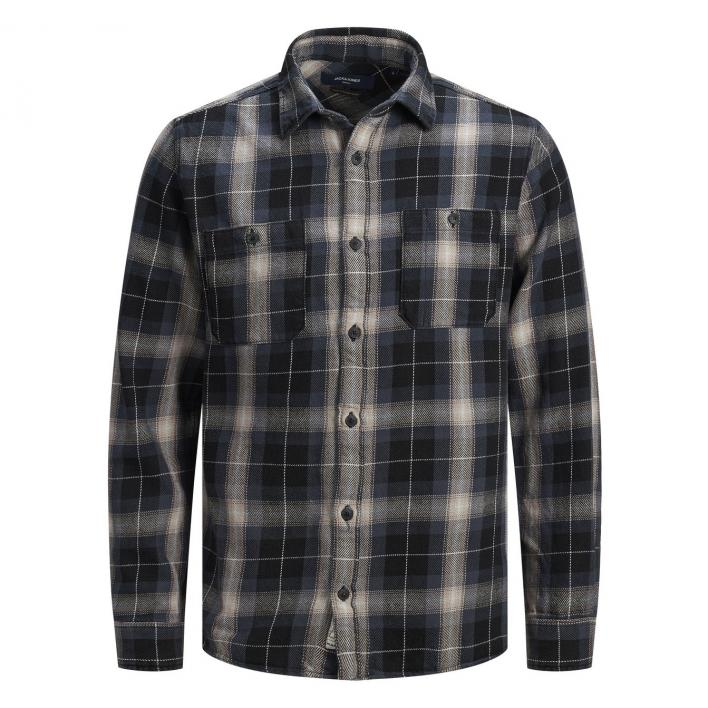 JACK JONES BLUJULIAN INDIGO CHECK SHIRT L/S