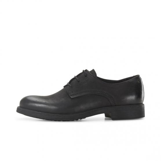 JACK JONES BROMLEY LEATHER ANTHRACITE