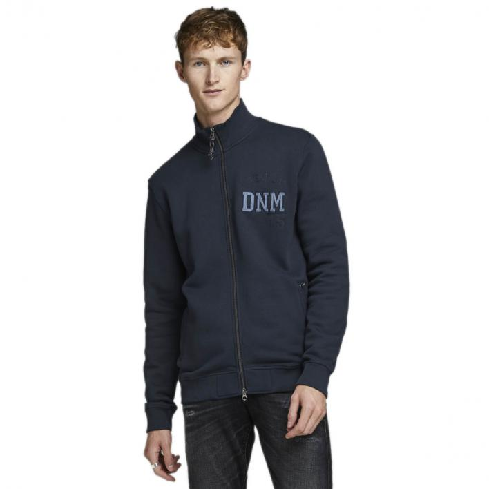 JACK JONES BRYCE BLU. SWEAT  HIGH NECK ZIP