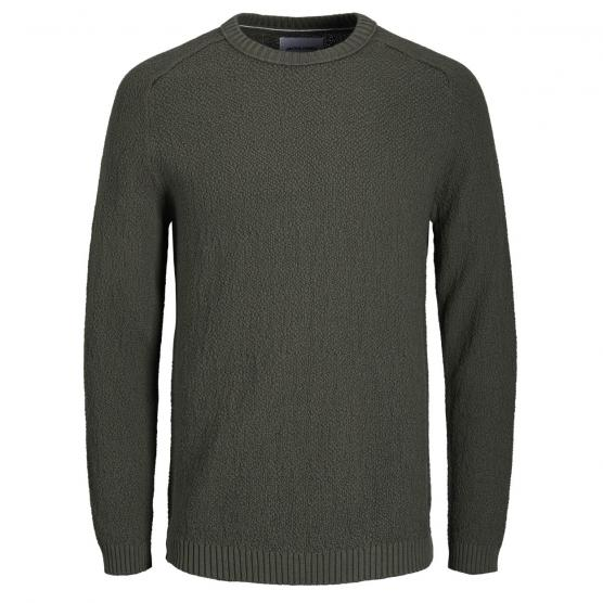 JACK JONES CLOUD KNIT CREW NECK FOREST NIGHT/KNIT FI