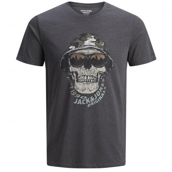 JACK JONES CONA TEE SS CREW NECK DARK GREY MELANGE/SL