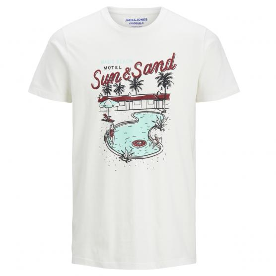 JACK JONES DONUT TEE SS CREW NECK CLOUD DANCER/SLIM
