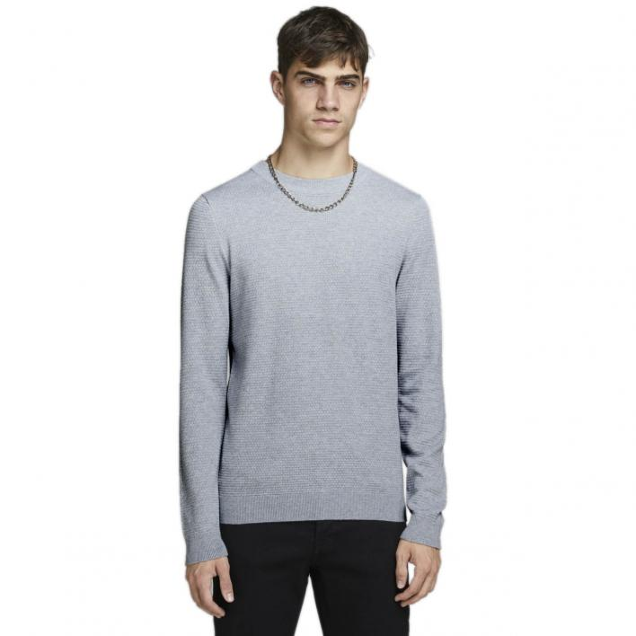 JACK JONES FAST STRUCTURE KNIT CREW NECK