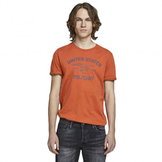 JACK JONES GREG BLU. TEE SS CREW NECK