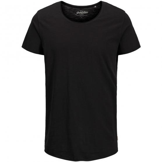 JACK JONES JEBAS TEE SS U-NECK NOOS BLACK