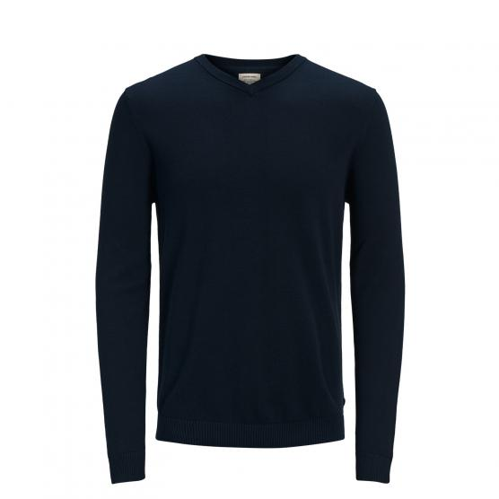 JACK JONES JJEBASIC KNIT V-NECK NOOS