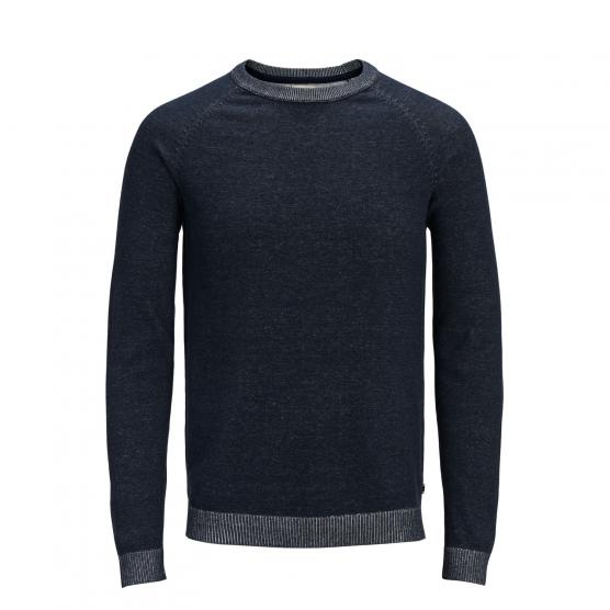 JACK JONES JJEPLAITED KNIT CREW NECK