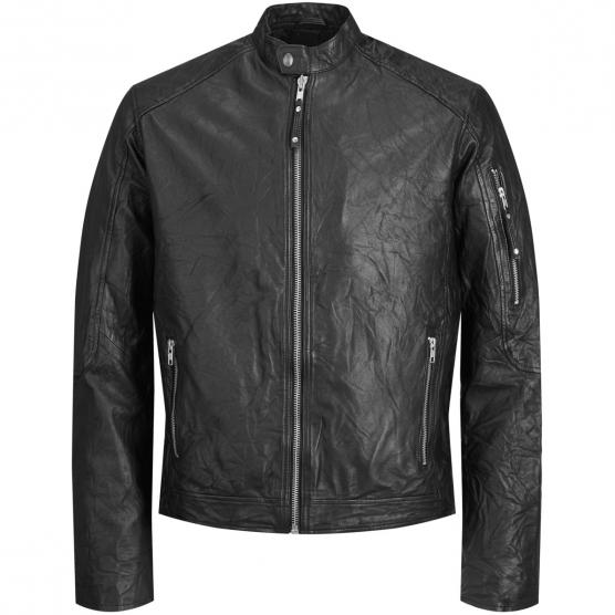 JACK JONES JJERICHARD CLEAN LEATHER JACKET NOOS