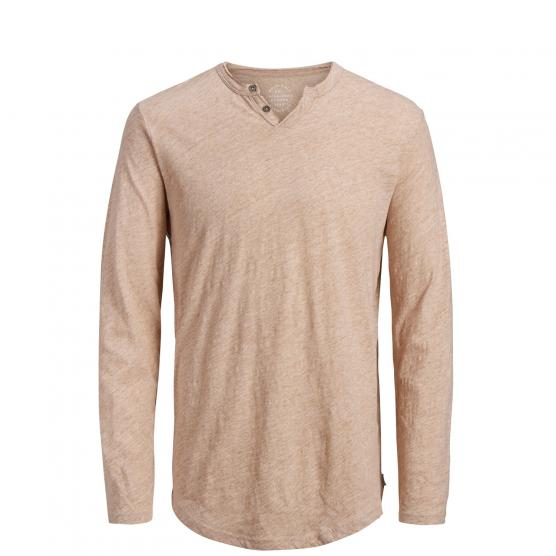 JACK JONES JORCOLLECTIVE TEE LS SPLIT NECK
