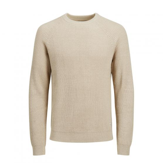 JACK JONES JORNEWPANNEL KNIT CREW NECK