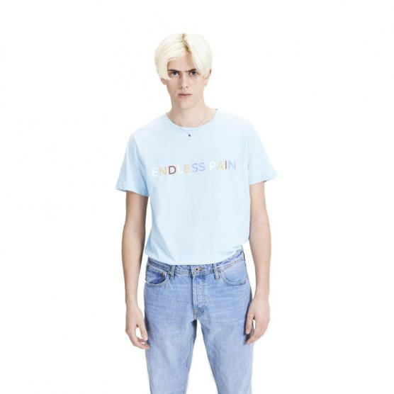 JACK JONES JORROMANTIC SS TEE CREW NECK CASHMERE BLUE