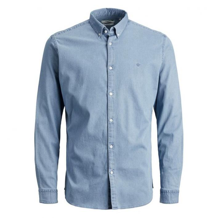 JACK JONES JPRBLALOGO STRETCH DENIM SHIRT L/S STS
