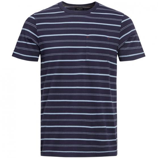 JACK JONES JPRMATT STRIPE BLU. TEE SS CREW NECK