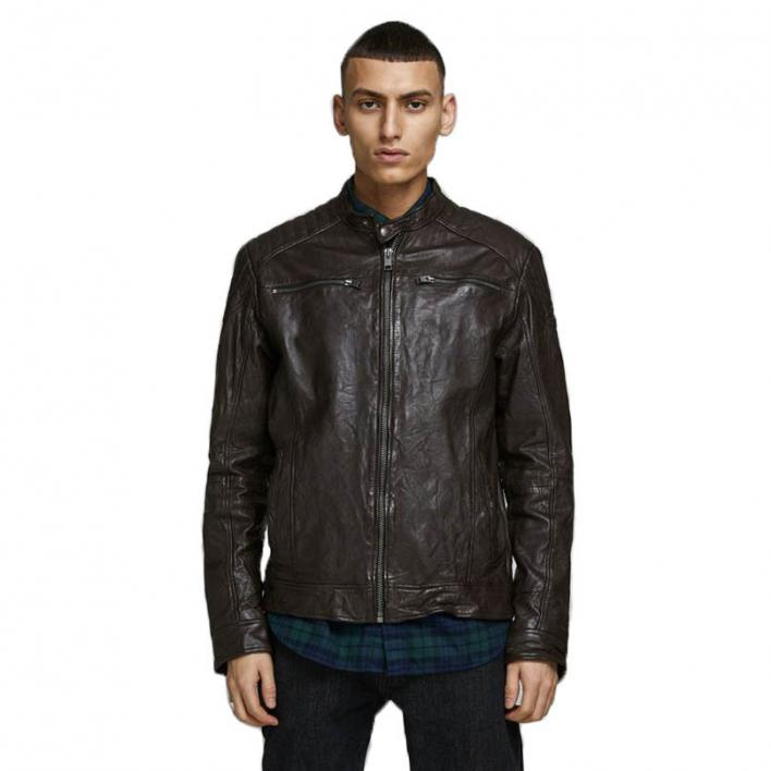 JACK JONES LIAM LEATHER JACKET NOOS