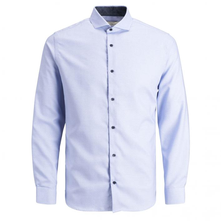 JACK JONES MASON DETAIL SHIRT L/S /SLIM FIT