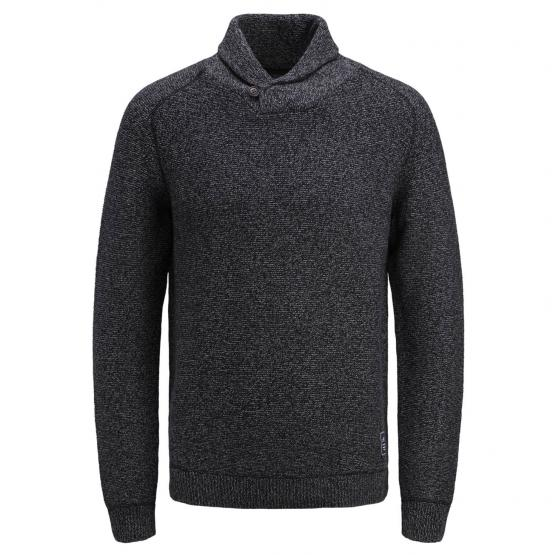 JACK JONES MONEY KNIT SHAWL COLLAR