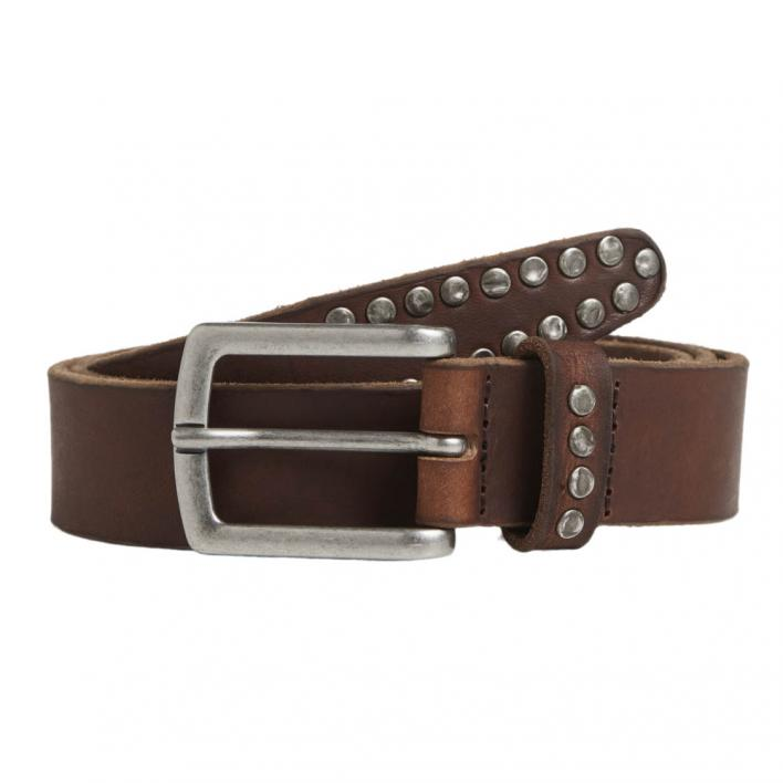 JACK JONES RIVET LEATHER BELT