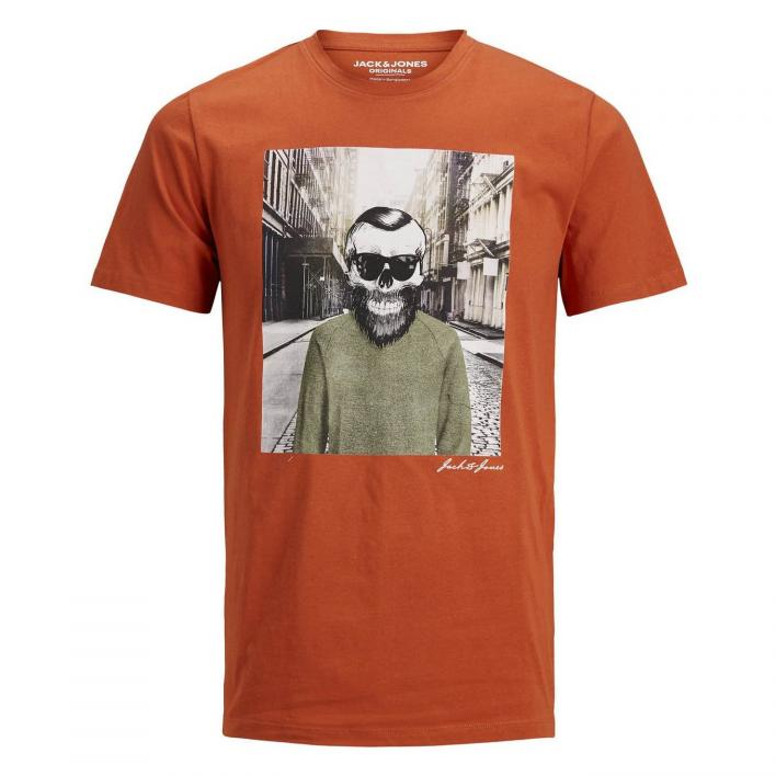JACK JONES SKULLING TEE SS CREW NECK STS
