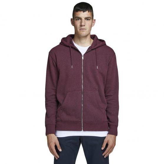 JACK JONES SOFT SWEAT ZIP HOOD NOOS PORT ROYALE/RELAXED