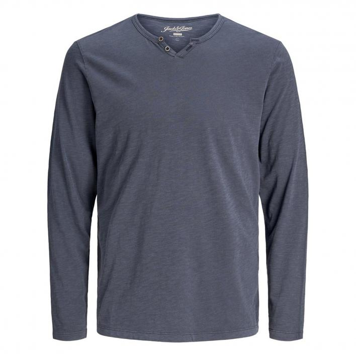 JACK JONES SPLIT NECK TEE L/S NOOS