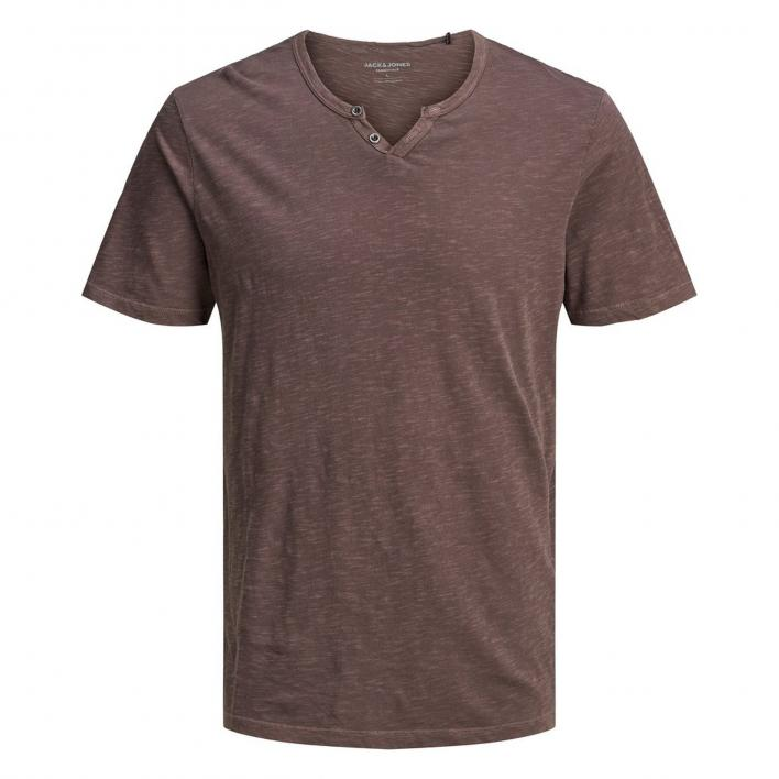 JACK JONES SPLIT NECK TEE SS NOOS