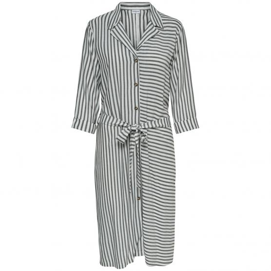 JACQUELINE DE YONG KARLA 3/4 MIDI SHIRT DRESS WVN