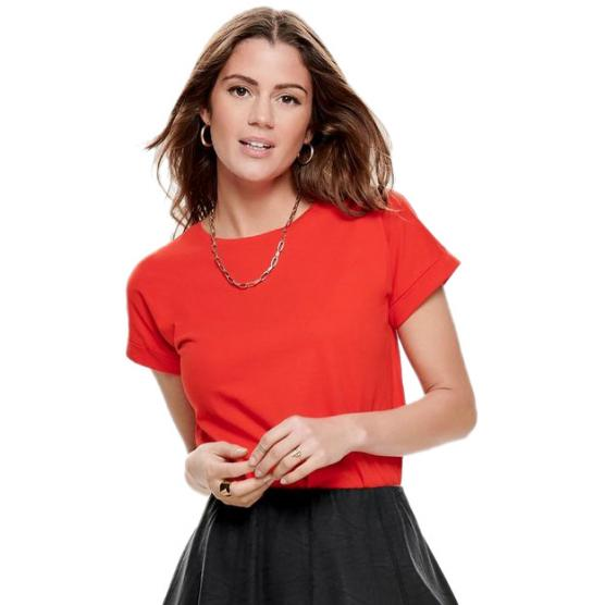 JACQUELINE DE YONG LOUISA S/S FOLD UP TOP JRS NOOS