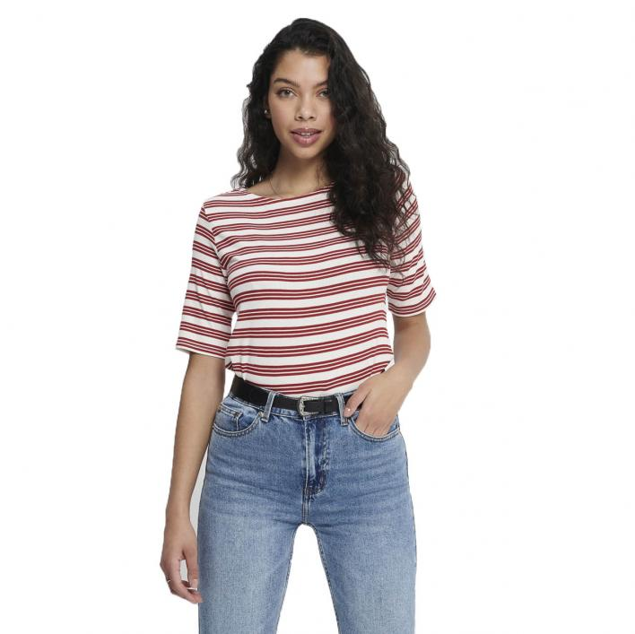 JDY CAMINA STRIPED 2/4 TOP JRS