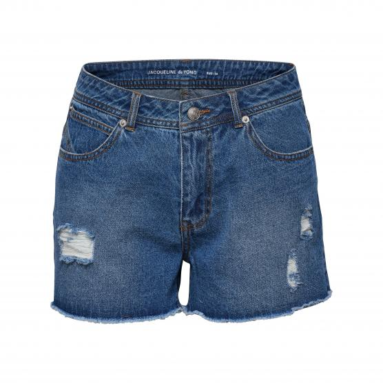 JDY CHIMMY REG DESTROY DENIM SHORTS DNM