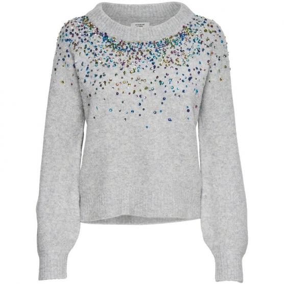 JDY SPARKLE L/S CROPPED PULLOVER KNT