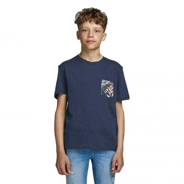 JACK JONES KIDS ELIPOCKET TEE SS CREW NECK JR