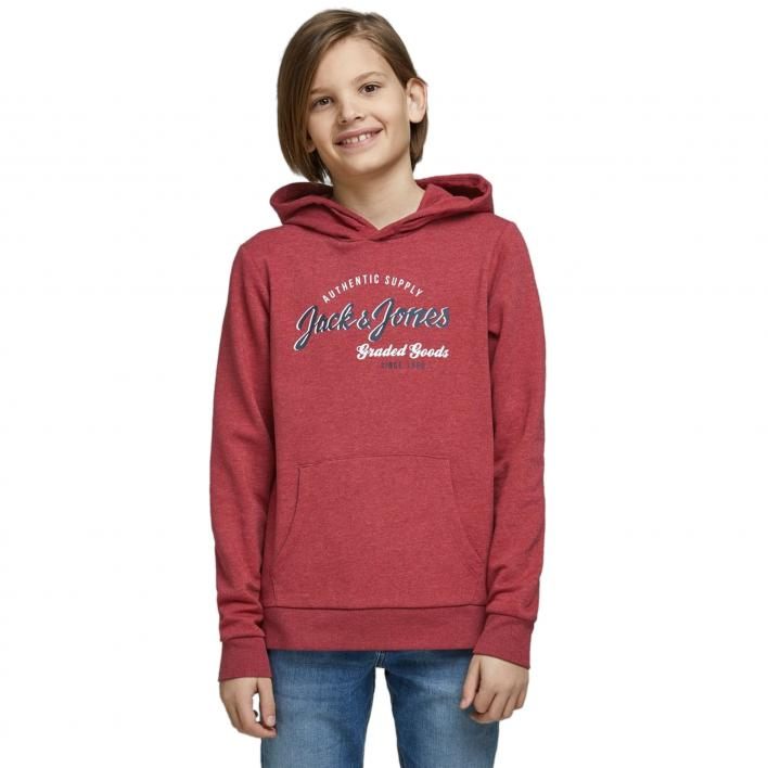 KIDS JACK JONES JJELOGO SWEAT HOOD 2 COL NOOS JR
