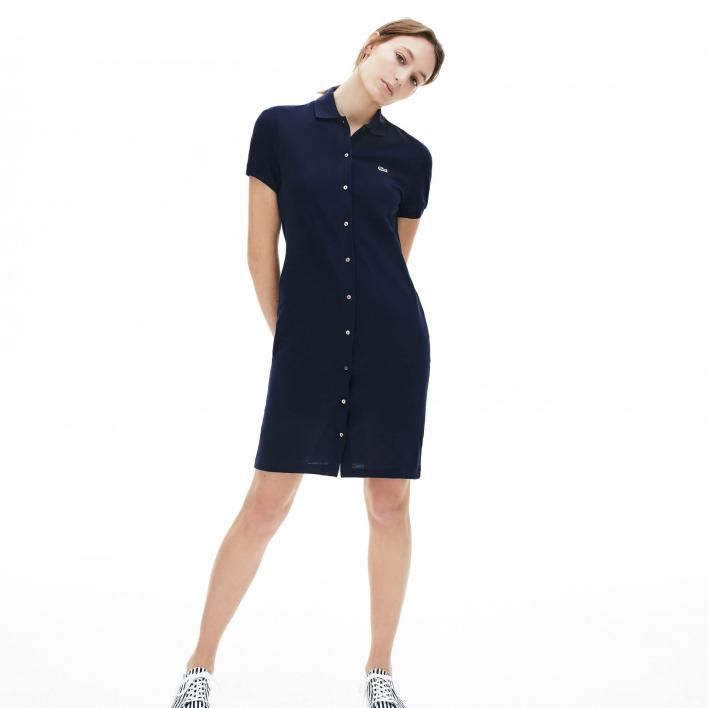 LACOSTE BUTTON POLO DRESS