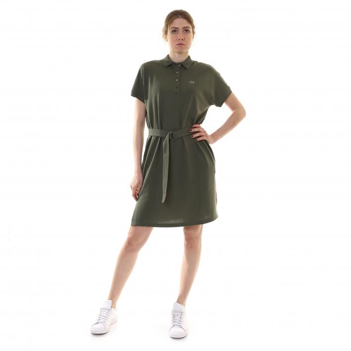 LACOSTE POLO DRESS WITH BELT
