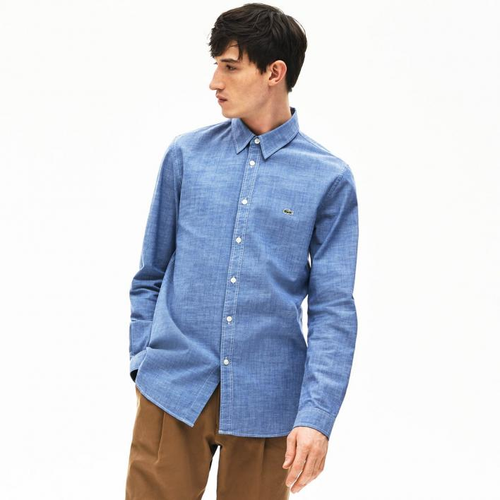 LACOSTE LONG SLEEVE SHIRT CHAMBRAY