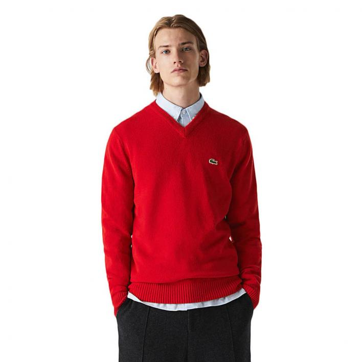 LACOSTE LAMBSWOOL V-NECK PULLOVER