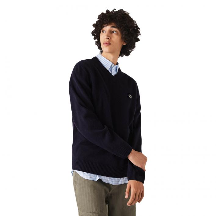 LACOSTE PULLOVER SCOLLO V LAMBSWOOL