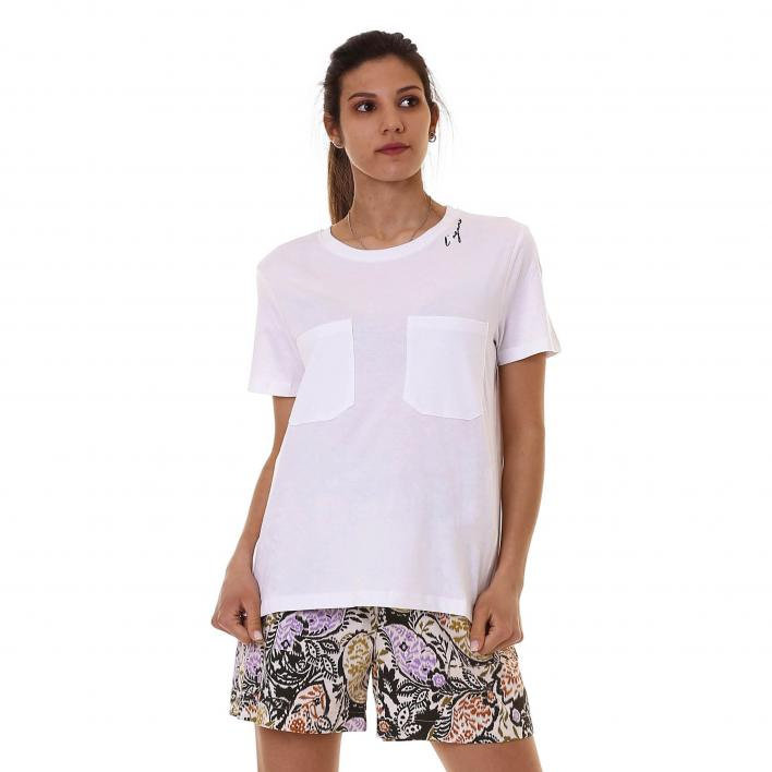 L'AGAMA' T-SHIRT MM TASCHE COTONE JERSEY